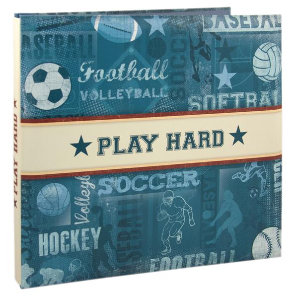 Karen Foster Design 12 X 12 Postbound Scrapbook Album Sports