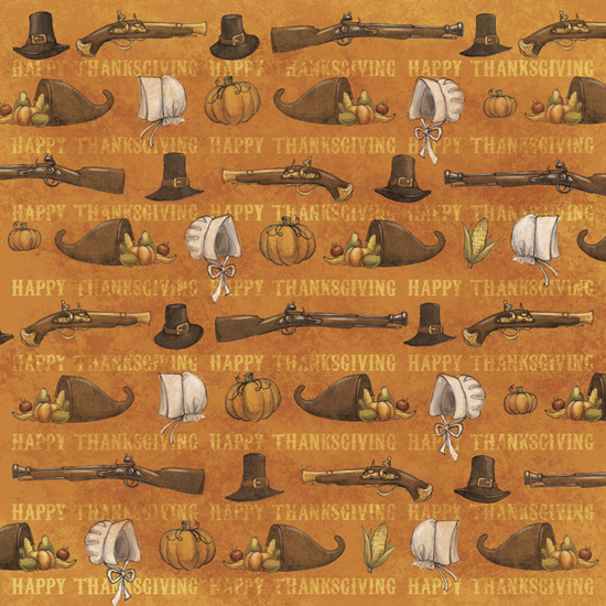 Foster Design Thanksgiving Collection 12 X 12 Paper Pilgrims