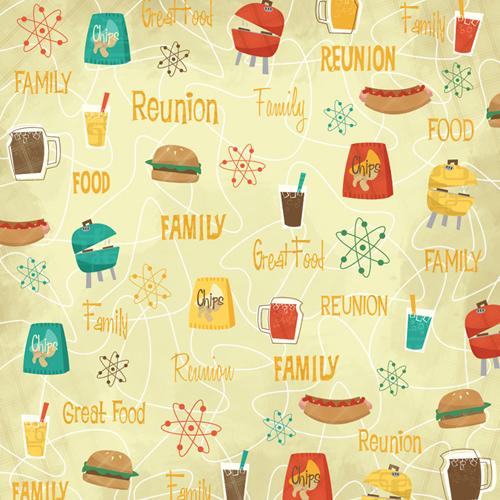 Karen foster design family reunion collection 12 x 12 for Scrapbooking cuisine