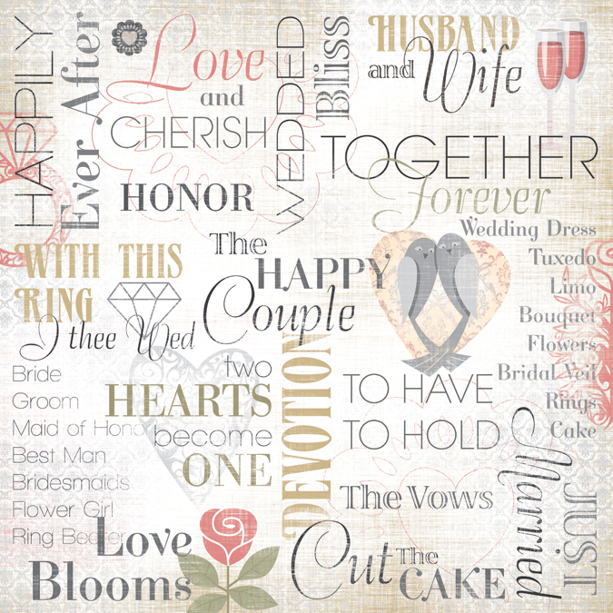 Karen Foster Design Wedding Collection 12 x 12 Paper Husband