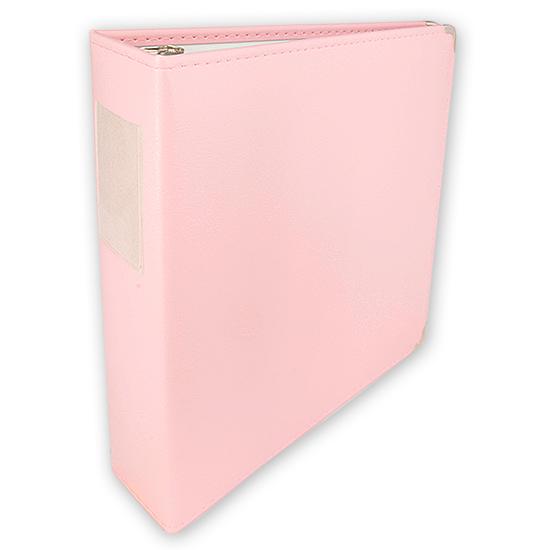 Classic 3 Ring Memory Album 12x12 Pale Pink