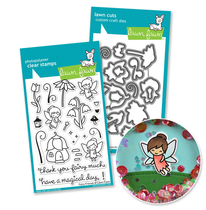 Lawn Fawn Fairy Friends Stamp/Die Bundle