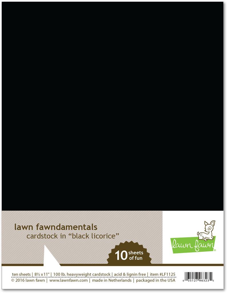 Lawn Fawn Black Licorice cardstock
