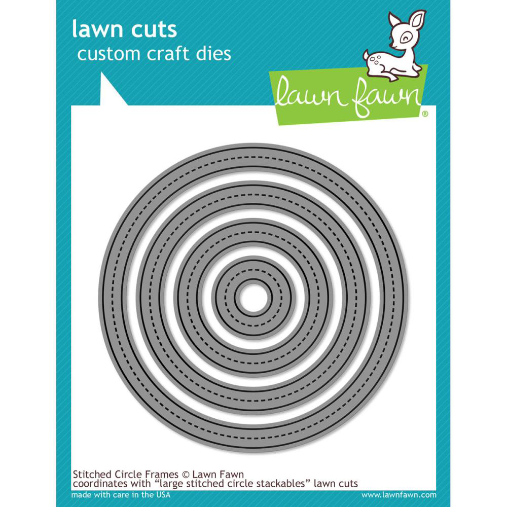 Lawn Fawn Stitched Circle Die Frames