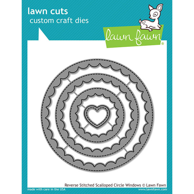 Lawn Fawn Reverse Stitched Scallop Circle Window Dies