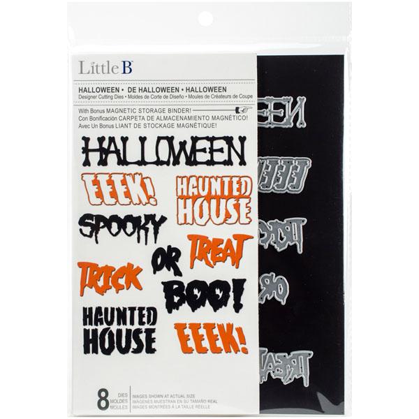 Little B Halloween Phrases Cutting Dies