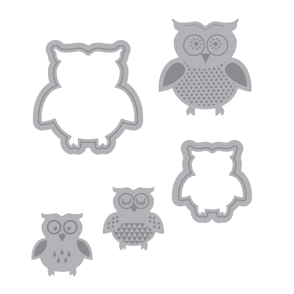 Momenta Owls Die Cutting Template