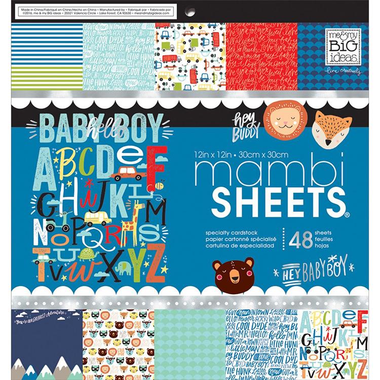 Me And My Big Ideas Baby Boy Dreams 12x12 Mambi Sheets Paper Pad