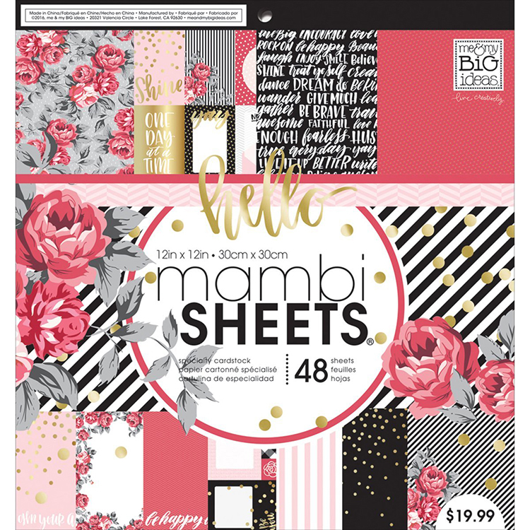 Me And My Big Ideas Life Is Rosy 12x12 Mambi Sheets Paper Pad