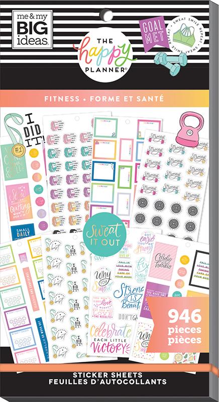 me /& my BIG ideas Fitness Stickers