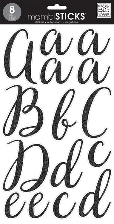 large letter stickers me and my big ideas black glitter large alphabet 22687 | SBC mbi stl 261