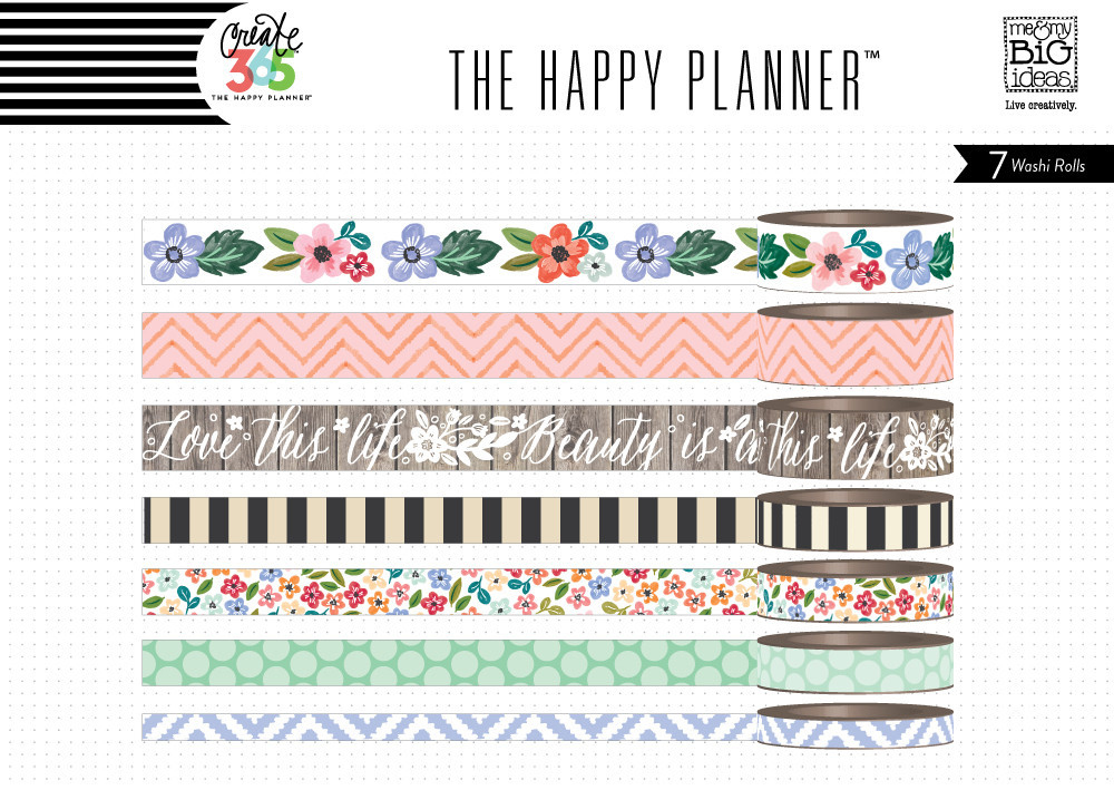 Me And My Big Ideas Create 365 Fresh Floral Washi Tape