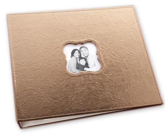 Making Memories 12 X 12 Embossed Leather Album 3 Ring Bronze