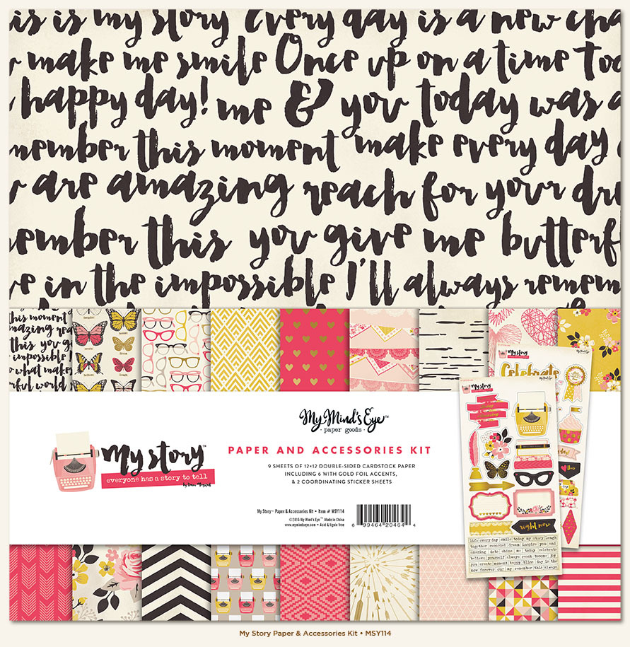 c1eb04a2bb104 My Minds Eye - My Story Collection - 12 x 12 Paper and Accessories Kit