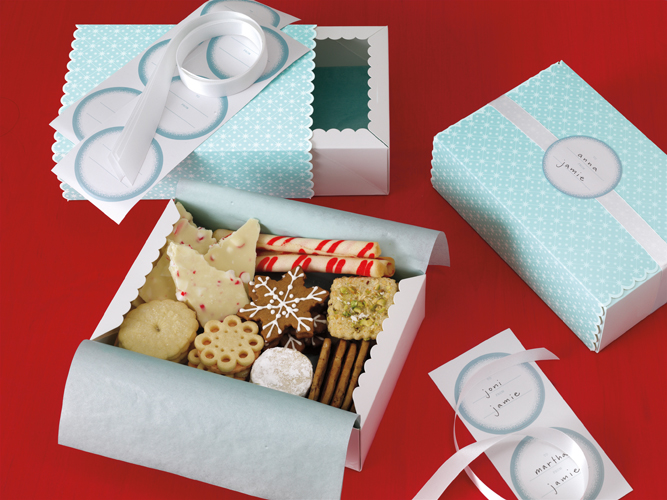 Martha stewart crafts christmas treat boxes winter for Martha stewart xmas crafts