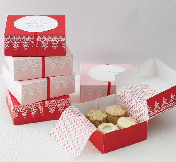 martha stewart crafts holiday cookie boxes iced brand new