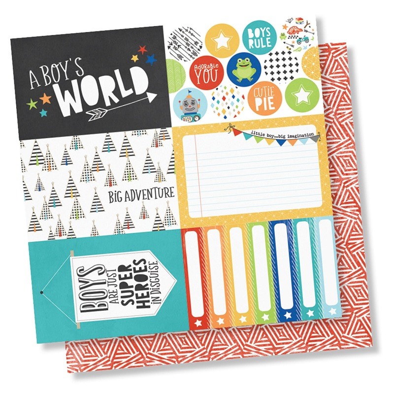 83267c8c3 Simple Stories - Lil  Dude Collection - 12 x 12 Double Sided Paper - 4