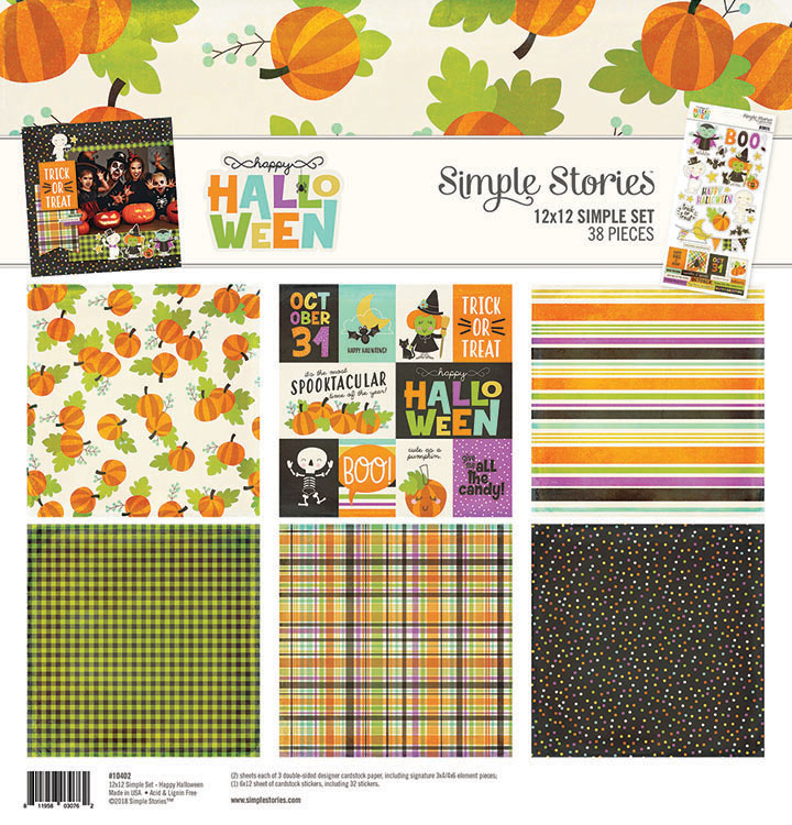 simple stories happy halloween collection 12 x 12 collection kit