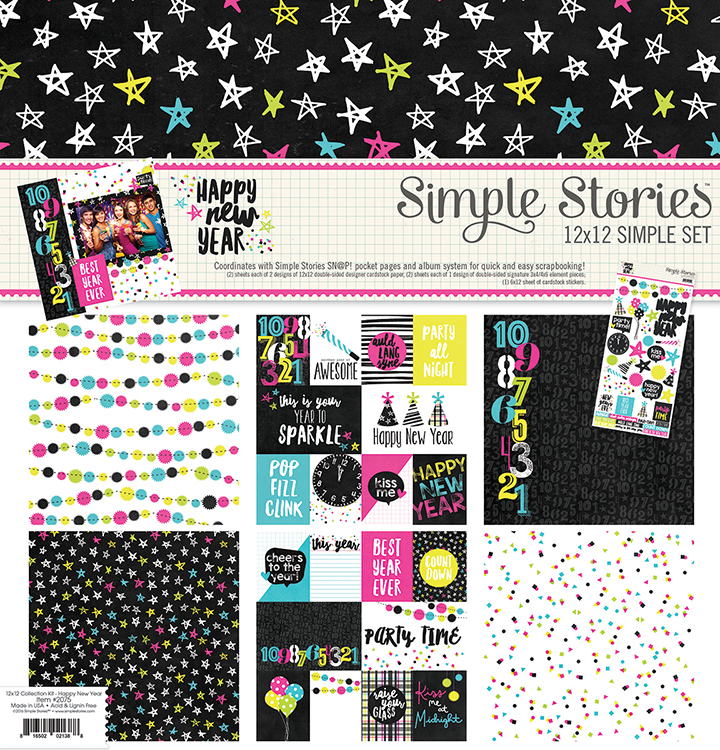 Simple Stories Happy New Year 12x12 Collection Kit