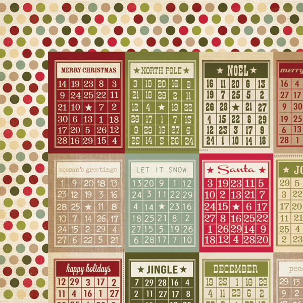 simple stories handmade holiday collection christmas 12 x 12 double sided paper bingo cards