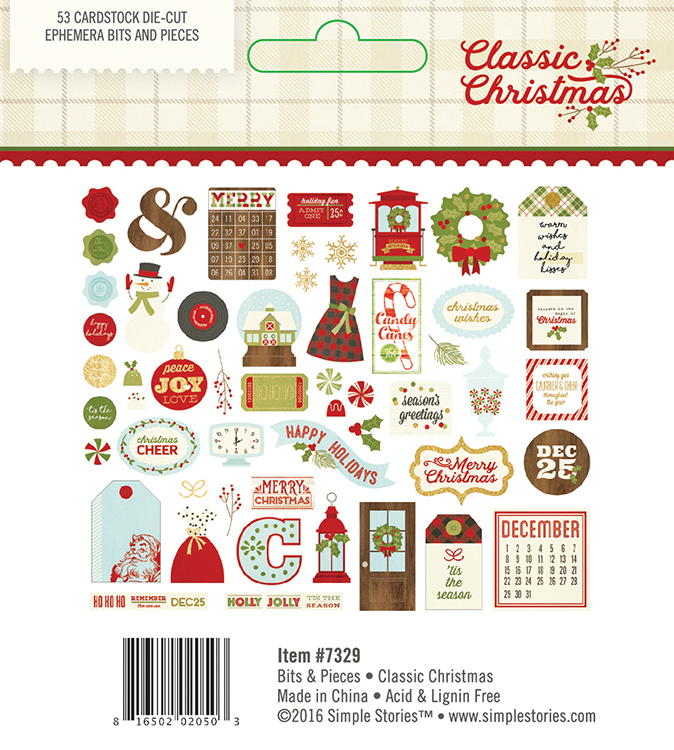 simple stories classic christmas collection bits and pieces with foil accents - Classic Christmas Stories