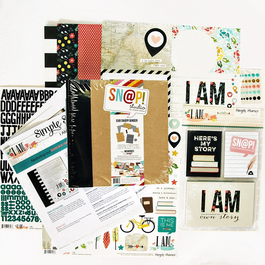 simple stories i am snap binder class kit
