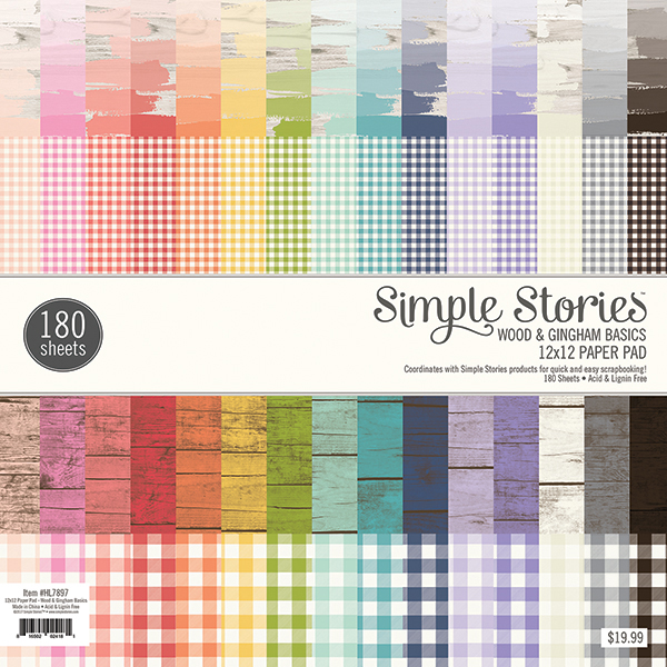 Simple Stories Wood & Gingham Basics Paper Pad