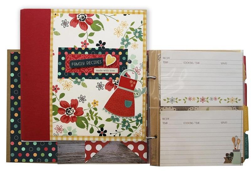 Simple Stories Homespun Recipe Binder Class Kit