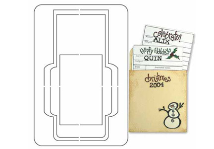 Provo Craft Coluzzle Clear Plastic Cutting Template Library – Library Card Template