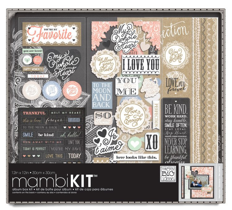 Me And My Big Ideas Lacey Charm 12 X 12 Album Kit