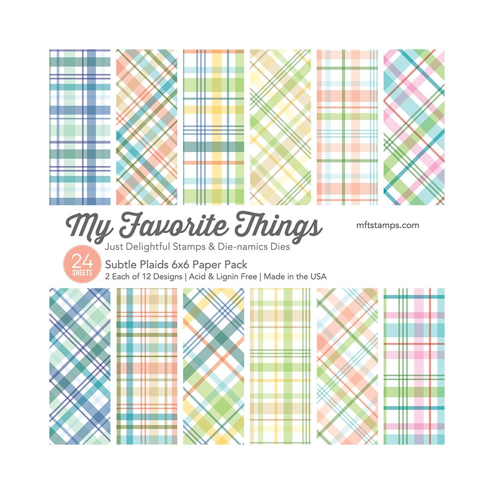 My Favorite Things Subtle Plaids 6 x 6 Paper Pad