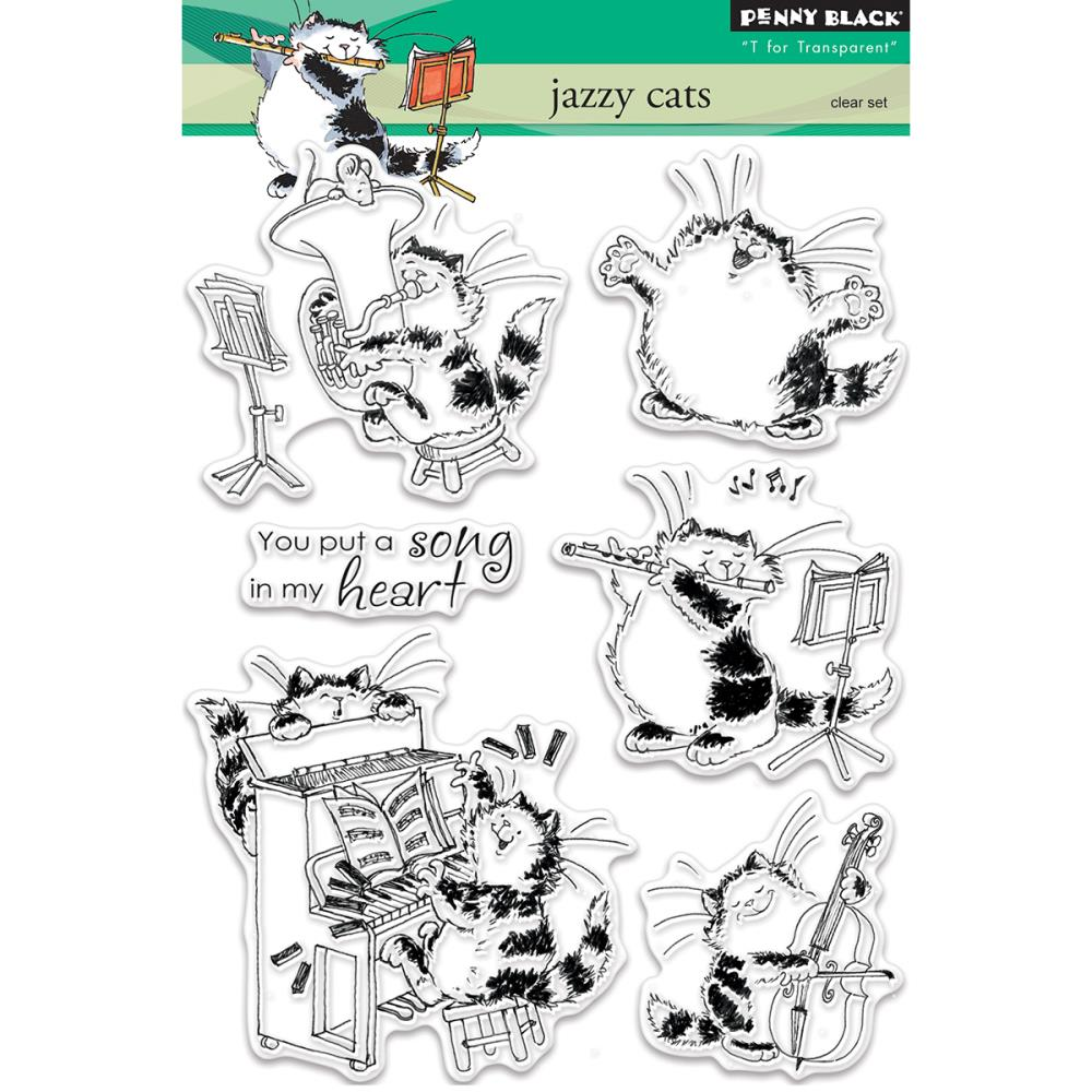 Cat Rubber Stamps Card Making