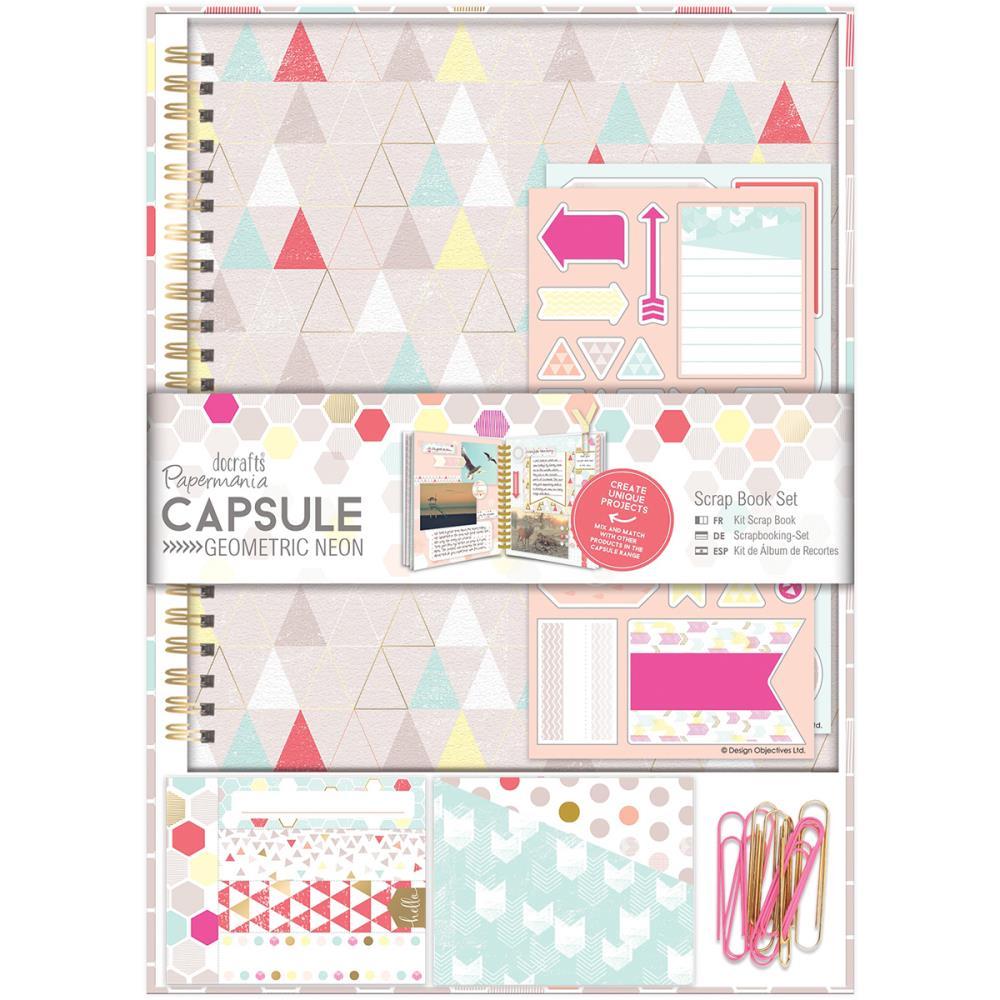 Docrafts Papermania Capsule Geometric Neon Scrapbook Kit