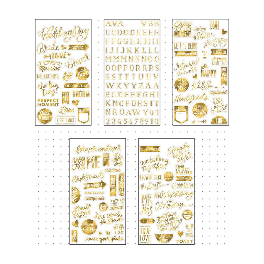 Me And My Big Ideas Pocket Pages Wedding Day Clear Stickers