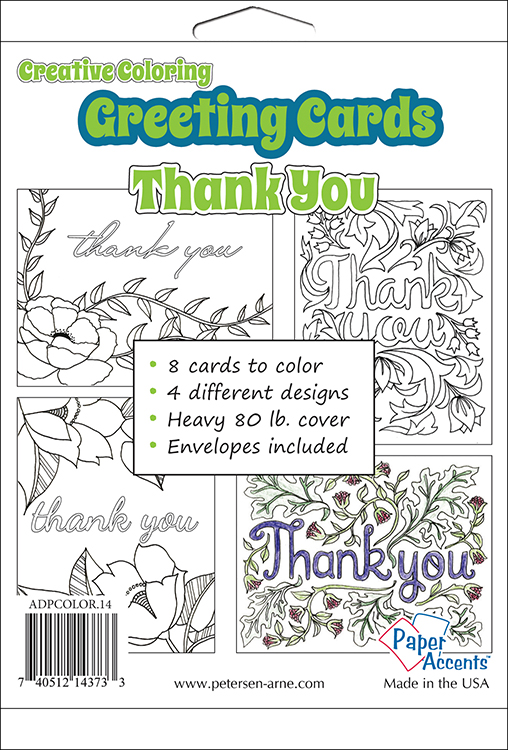 Paper accents creative coloring thank you greeting cards paper accents creative coloring collection greeting cards thank you m4hsunfo