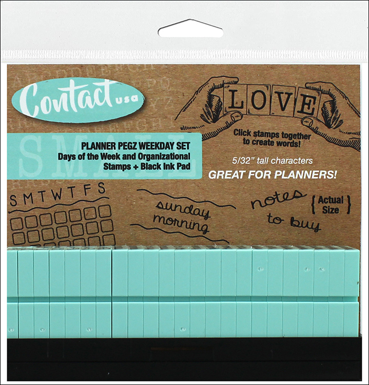 Contact USA Weekday Planner Pegz Clickable Stamp Set