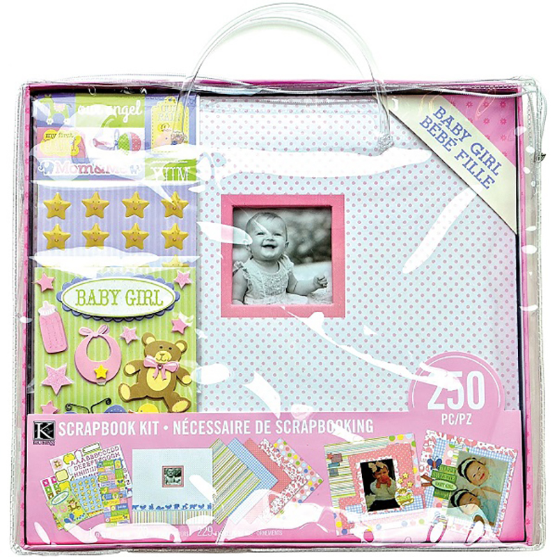 K And Company Baby Girl 12 X 12 Scrapbook Kit