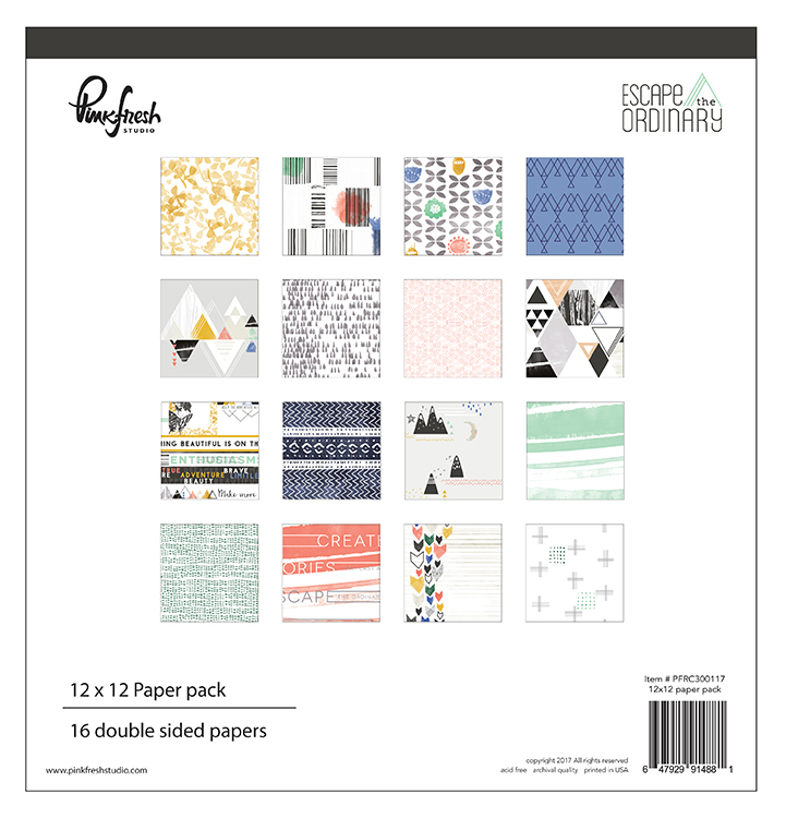 Pinkfresh Studio - Escape the Ordinary 12x12 Paper Pack