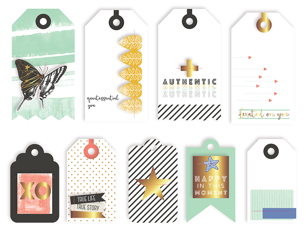 Pinkfresh Studio - Escape the Ordinary Layered Tags
