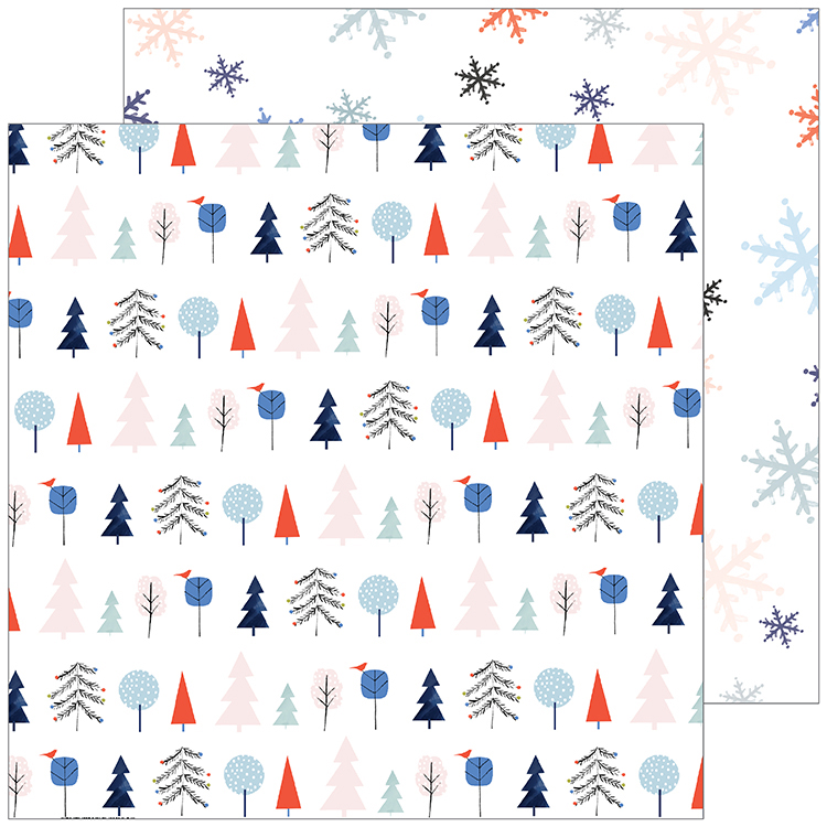 Pinkfresh Studio - December Days Festive Trees Paper