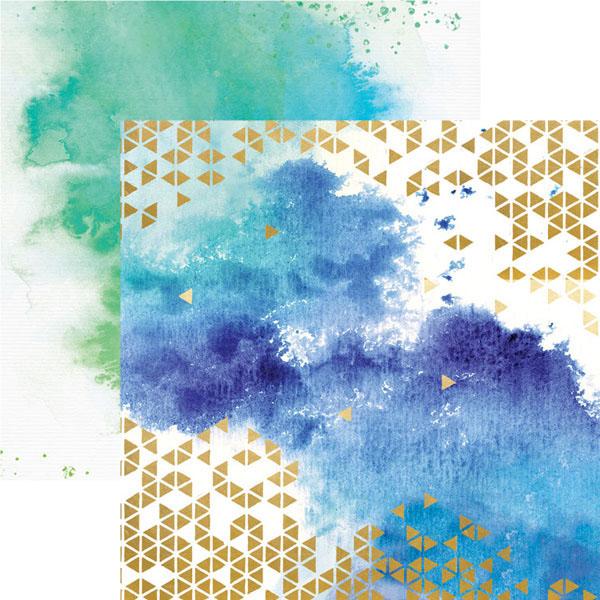 Paper House Productions Color Washed Paper w/Foil