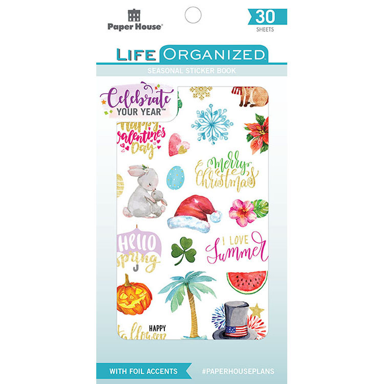 Paper House Productions Life Organized Seasonal Stickers