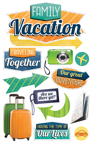 paper house productions family vacation 3d stickers