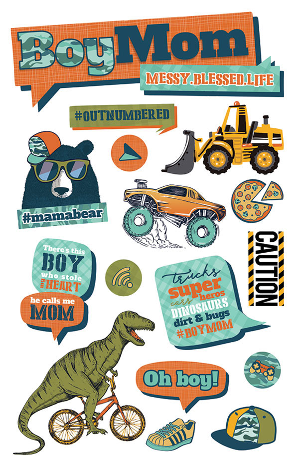 Paper House Productions Boy Mom Stickers