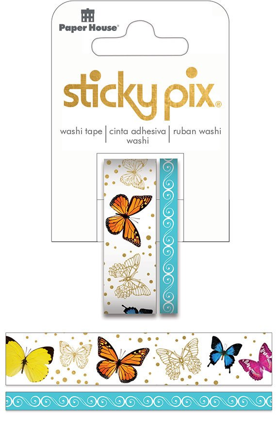 Paper House Productions Washi Tape Butterflies w/foil