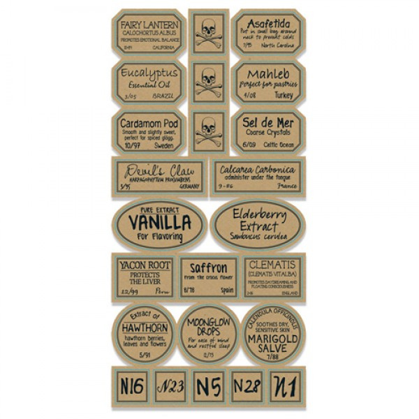7 Gypsies - Apothecary Collection - 97% Complete Label Stickers ...