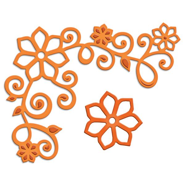 spellbinders floral corner one shapeabilities die cutting template