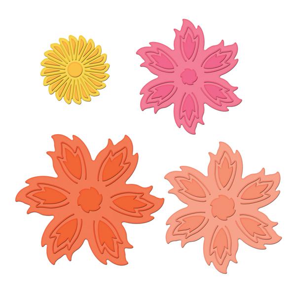 spellbinders shapeabilities aster flower topper die