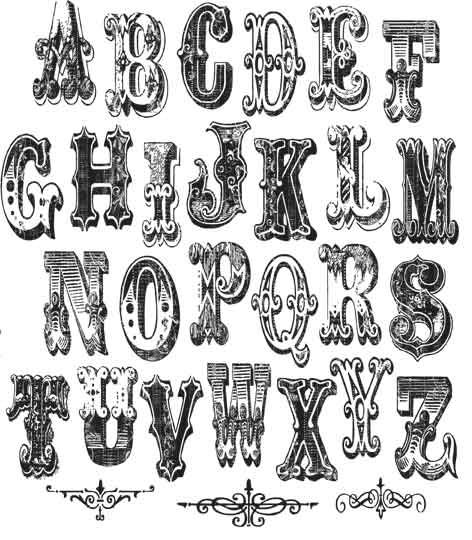 Stampers Anonymous Tim Holtz Mini Cirque Alphabet Stamp Set