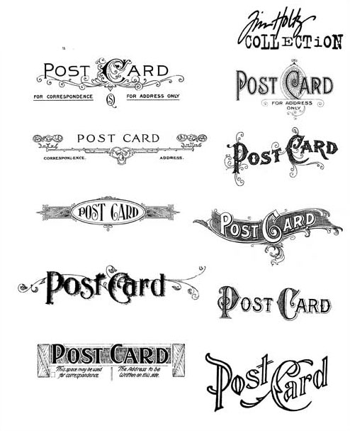 stampers anonymous tim holtz postcards stamp set